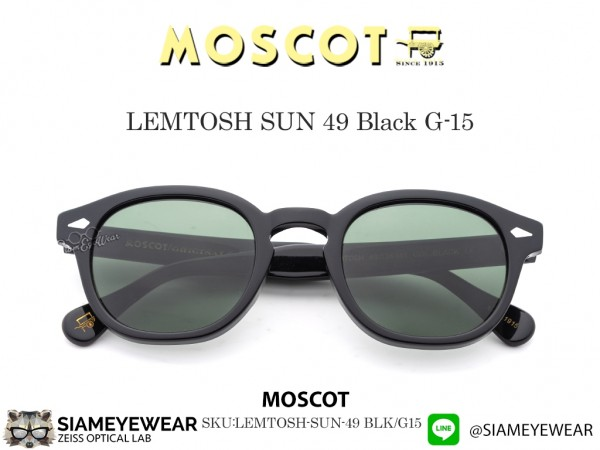 แว่น Moscot LEMTOSH SUN Black G-15