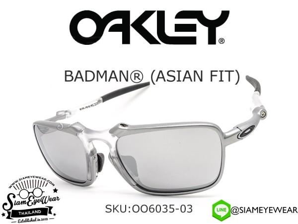 แว่นกันแดด Oakley Badman (Asia fit) OO6035-03 X Ti/Chrome Iridium