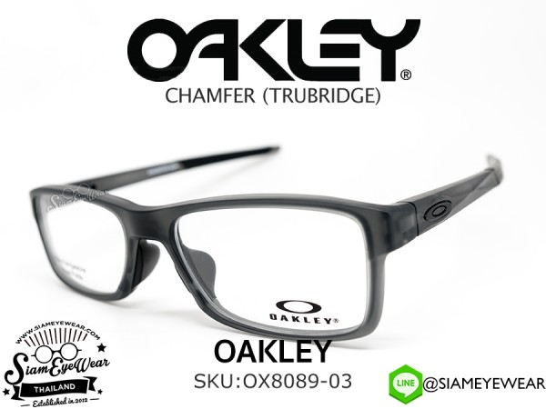 แว่นสายตา Oakley Optic CHAMFER MNP OX8089-03 Satin Grey Smoke