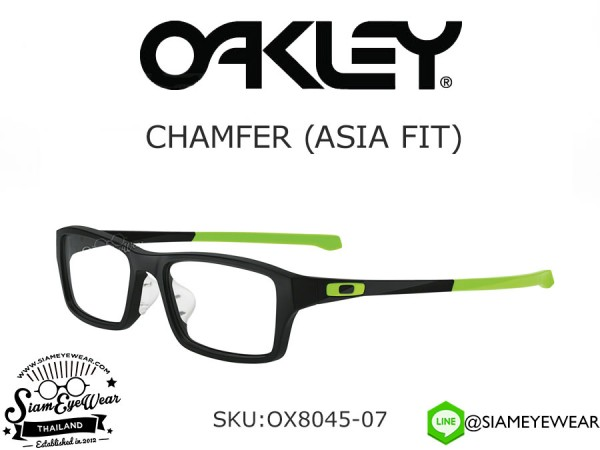 กรอบแว่นสายตา Oakley Optic CHAMFER OX8045-07 Black Retina Burn