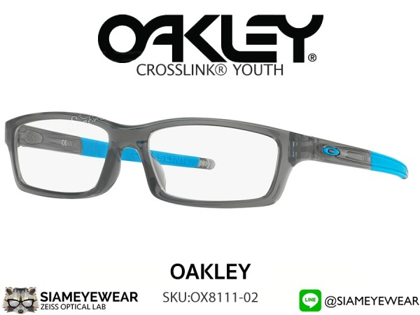 แว่นเด็ก Oakley Optic CROSSLINK YOUTH (Asia fit) OX8111-02 Polished Grey Smoke