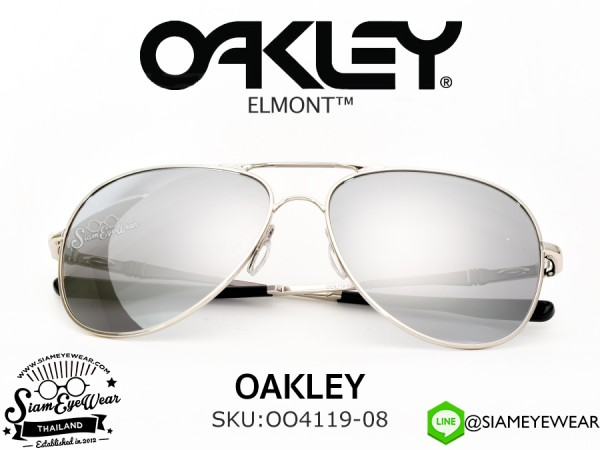 แว่น Oakley Elmont OO4119-08 Chrome/Chrome Iridium