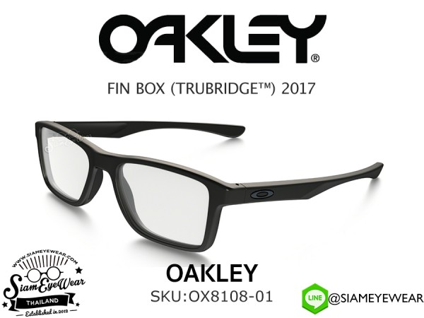 แว่นตา Oakley Optic Fin Box MNP OX8108-01 Satin Black
