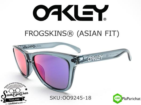 aeb501bc5bbe0 แว่นกันแดด Oakley FROGSKINS (ASIAN FIT) OO9245-18 Crystal Black Positive Red  ...