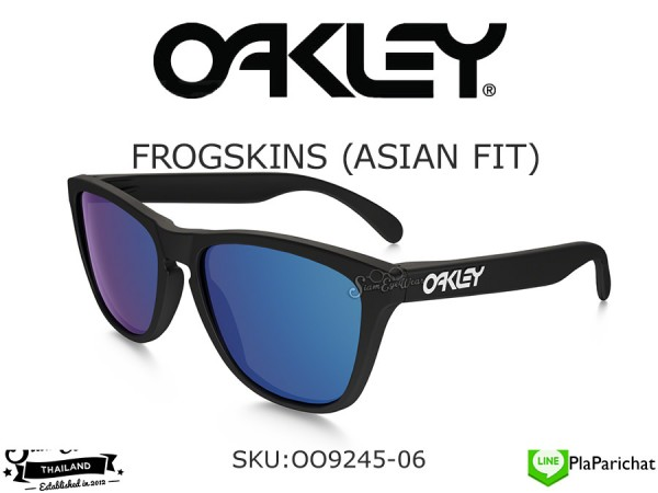 แว่น Oakley FROGSKINS (ASIAN FIT) OO9245-06 Matte Black/Ice Iridium