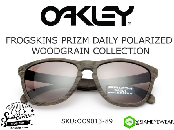 แว่นตากันแดด Oakley FROGSKINS PRIZM DAILY POLARIZED WOODGRAIN COLLECTION OO9013-89