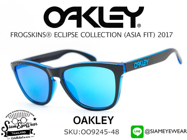 แว่นกันแดด Oakley FROGSKINS Eclipse Collection (ASIAN FIT) OO9245-48 Blue/Sapphire Iridium
