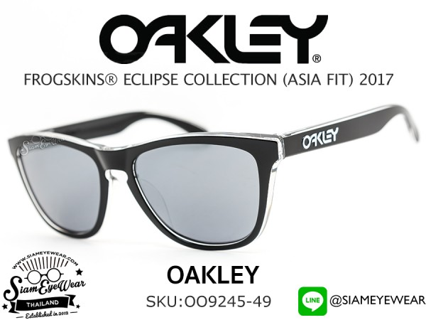 แว่นกันแดด Oakley FROGSKINS Eclipse Collection (ASIAN FIT) OO9245-49 Clear/Black Iridium