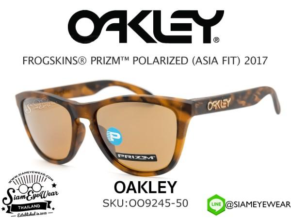 แว่น Oakley FROGSKINS PRIZM (ASIAN FIT) OO9245-50 Matte Tortoise/Prizm Tungsten Polarized
