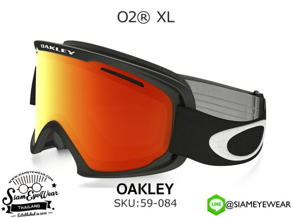 แว่น ski Oakley Goggle O2 XL 59-084 Matte Black/Fire Iridium