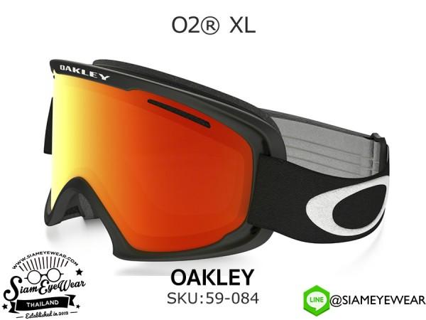 แว่น ski Oakley Goggle O2 XL 59-084 Matte Black/Fire Iridium