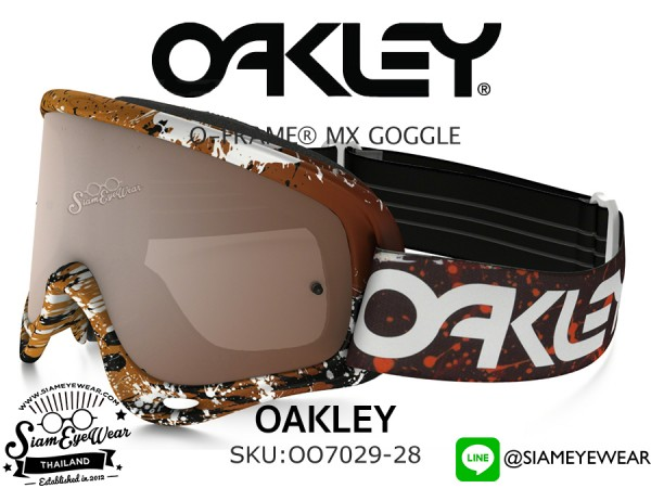 แว่นกันลม Oakley Goggle O FRAME MX OO7029-28 White/Black Iridium