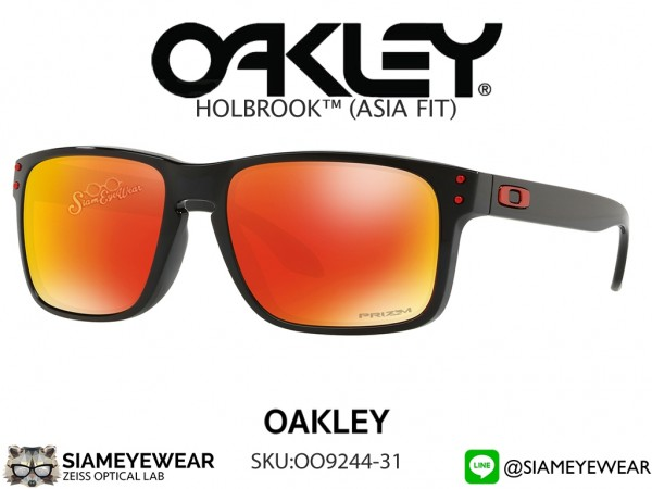 แว่น Oakley HOLBROOK PRIZM (ASIAN FIT) OO9244-31 Polished Black/Prizm Ruby Iridium