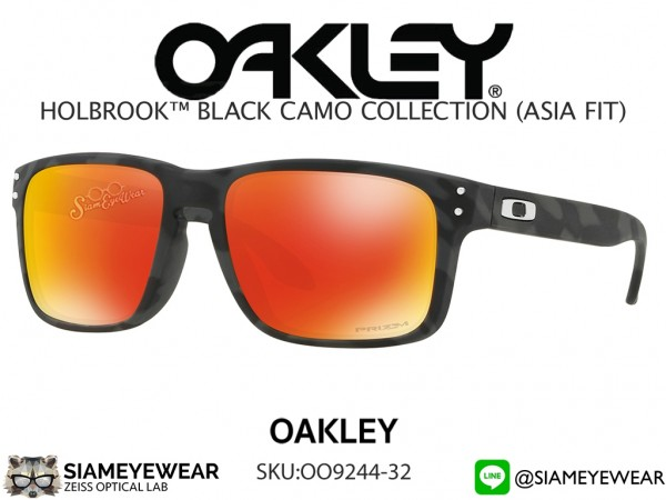 แว่น Oakley HOLBROOK PRIZM (ASIAN FIT) OO9244-32 Black Camo/Prizm Ruby