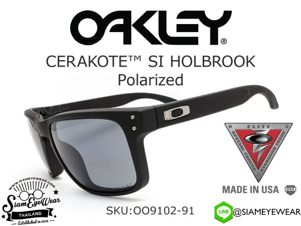 แว่นกันแดด Oakley HOLBROOK SI OO9102-91 CERAKOTE Graphite Black/Gray polarized