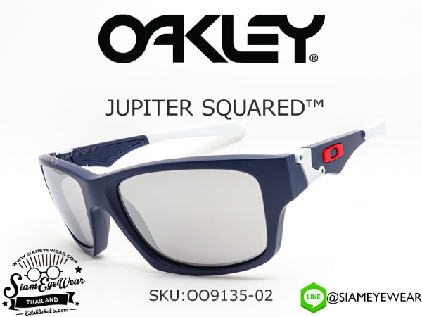 แว่น Oakley JUPITER SQUARED Navy/Chrome Iridium OO9135-02