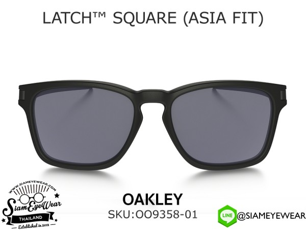 แว่นตากันแดด Oakley LATCH SQ (ASIA FIT) OO9358-01 Matte Black/Gray