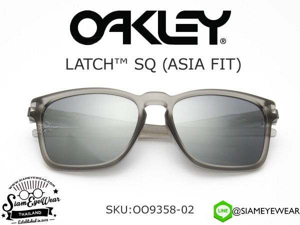 แว่นตา Oakley LATCH SQ (ASIA FIT) OO9358-02 Matte Gray Ink/Black Iridium