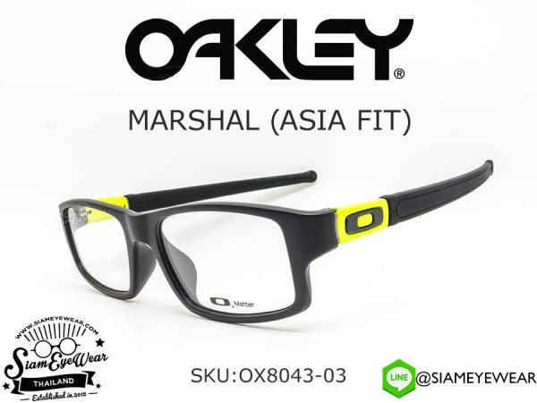 แว่นสายตา Oakley MARSHAL ASIA FIT OX8043-03 Satin Black/Lime