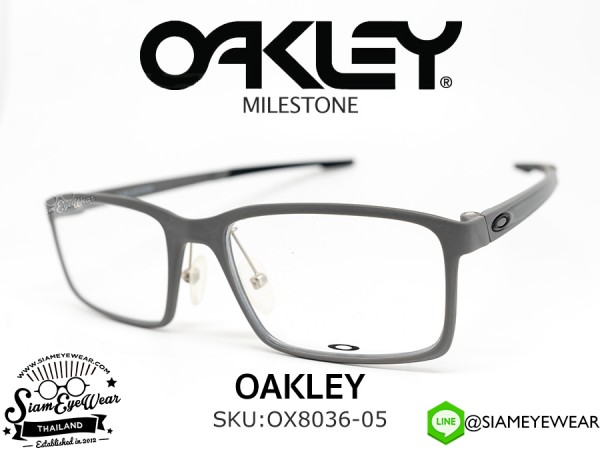 กรอบแว่นสายตา Oakley Optic MILESTONE (Asia fit) OX8036-05 Satin Concrete