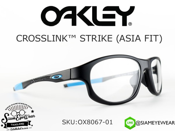 กรอบแว่นสายตา Oakley Optic Crosslink Strike (Asia Fit) OX8067-01 Satin Black