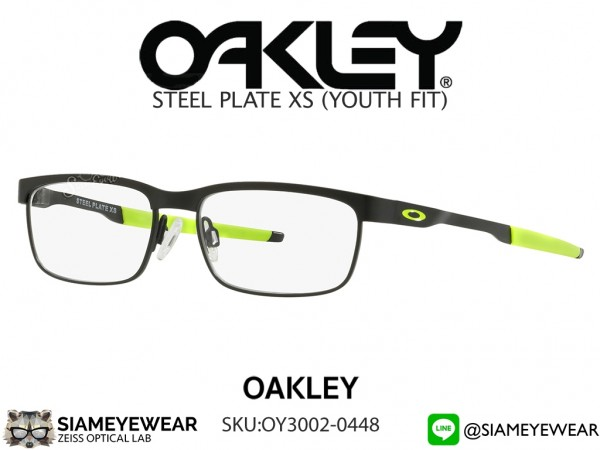 แว่นสายตาเด็ก Oakley Optic Steel Plate XS OY3002-0448 Satin Black