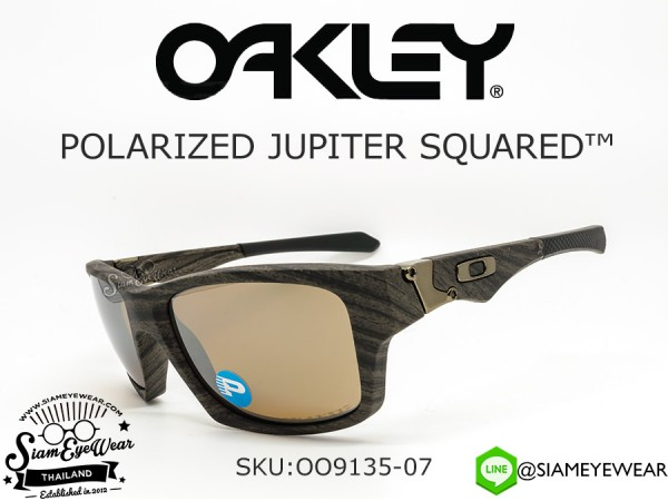 แว่น Oakley JUPITER SQUARED OO9135-07 Woodgrain/Tungsten Iridium polarized