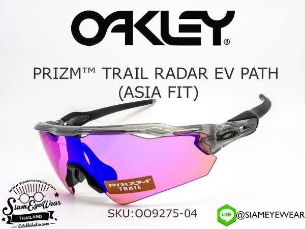 แว่นตากันแดด Oakley Prizm Trail Radar EV Path (Asia Fit) OO9275-04 Gray Ink