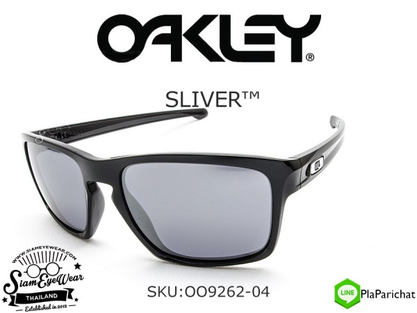 แว่นตากันแดด Oakley SILVER OO9262-04 Polished Black/Black Iridium