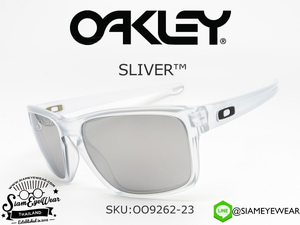 แว่นตากันแดด Oakley SLIVER OO9262-23 Matte Clear/Chrome Iridium