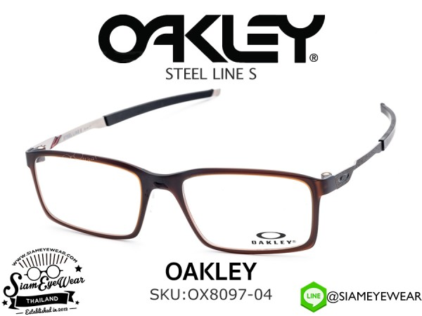 แว่นตา Oakley Optic STEEL LINE S OX8097-04 Matte Dark Amber