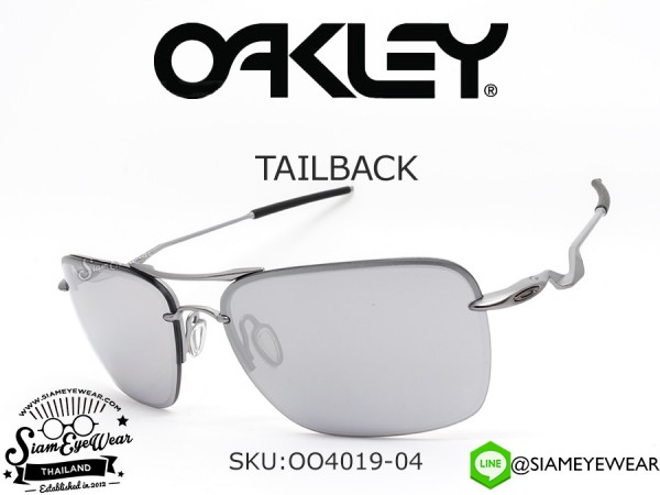 แว่นตากันแดด Oakley Tailback OO4019-04 Lead/Chrome Iridium
