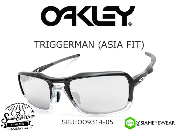 แว่นตา Oakley TRIGGERMAN (ASIA FIT) OO9314-05 Matte Black/Chrome Iridium