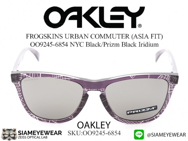 แว่น Oakley FROGSKINS URBAN COMMUTER (ASIA FIT) OO9245-6854 NYC Black/Prizm Black Iridium