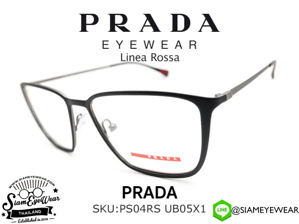แว่น Prada Optic PS51HV DG01O1 TOP BLACK RUBBER/GUNMETAL