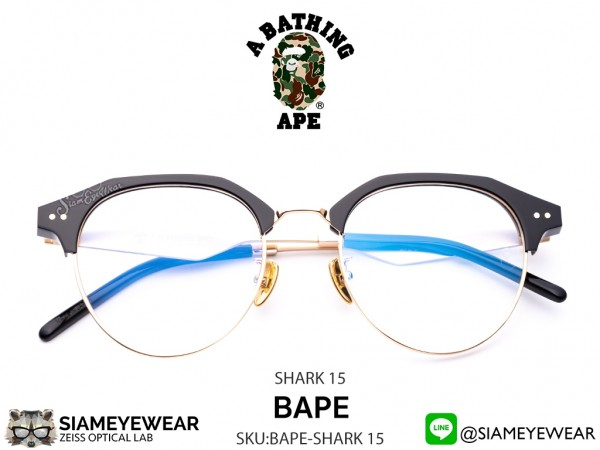 แว่น A BATHING APE SHARK15 GD Black Gold