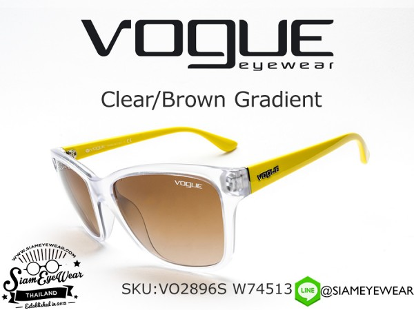 แว่นตา VOGUE VO2896S W74513 Clear/Brown Gradient